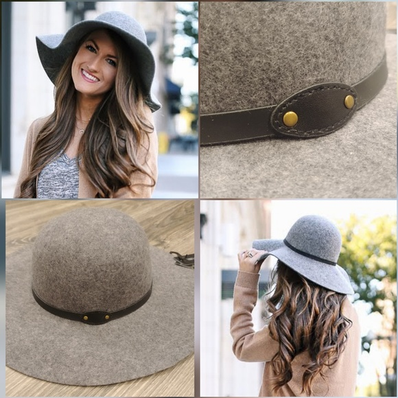 71ac6b4f David & Young Accessories   David Young Wool Heather Grey Floppy Hat ...